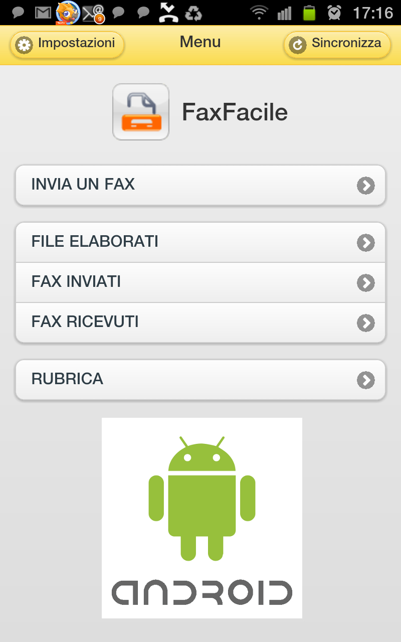 Fax Facile per Android